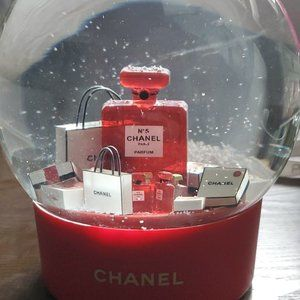 Special Edition Chanel Red No.5 Snow Globe